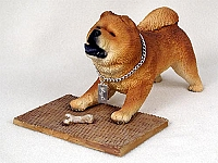 Chow Red My Dog Figurine