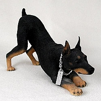 Doberman Pinscher Black w/Cropped Ears My Dog Figurine