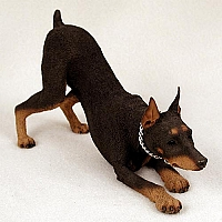Doberman Pinscher Red w/Cropped Ears My Dog Figurine