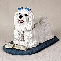 Maltese My Dog Figurine