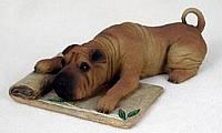 Shar Pei Brown My Dog Figurine