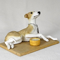 Greyhound Tan & White My Dog Figurine
