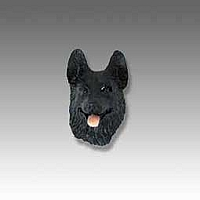 German Shepherd Black Tiny One head