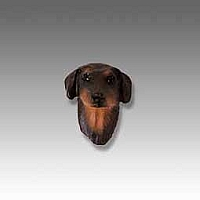 Doberman Pinscher Red w/Cropped Ears Tiny One head