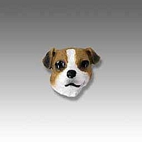 Jack Russell Terrier Brown & White w/Smooth Coat Tiny One head