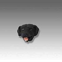 Labrador Retriever Black Tiny One head