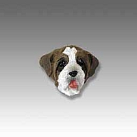 Saint Bernard w/Rough Coat Tiny One head