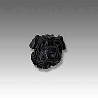 Shar Pei Black Tiny One head