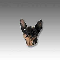 Miniature Pinscher Tan & Black Tiny One Head
