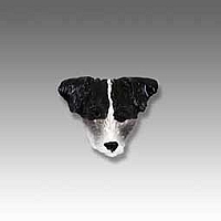 Jack Russell Terrier Black & White w/Rough Coat Tiny One head