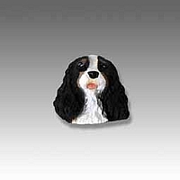 Black & White Cavalier King Charles Tiny One head