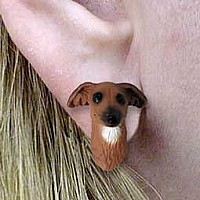 Italian Greyhound Earrings Post