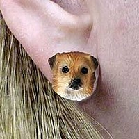 Tibetan Spaniel Earrings Post