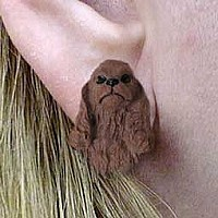 Cocker Spaniel Brown Earrings Post