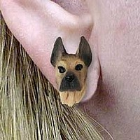 Great Dane Fawn Earrings Post