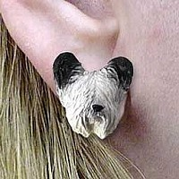 Skye Terrier Earrings Post
