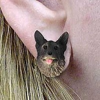 Norwegian Elkhound Earrings Post