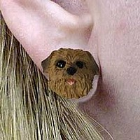 Norfolk Terrier Earrings Post