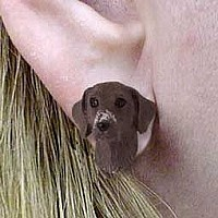German Short Haired Pointer Earrings Post