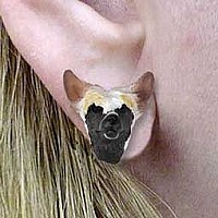 Chinese Crested Dog Earrings Post