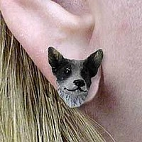 Australian Cattle BlueDog Earrings Post