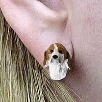 American Foxhound Earrings Post