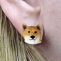 Shiba Inu Earrings Post