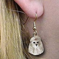Poodle Gray Earrings Hanging
