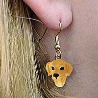 Golden Retriever Earrings Hanging