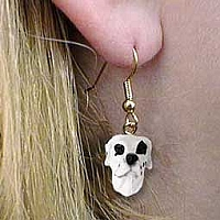 Great Dane Harlequin Uncropped Earrings Hanging