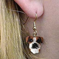 Boxer Uncropped Earrings Hanging