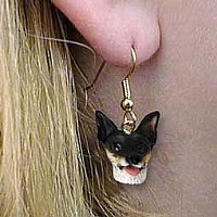 Rat Terrier Earrings Hanging
