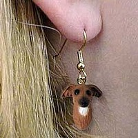 Italian Greyhound Earrings Hanging
