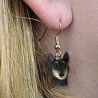 Belgian Tervuren Earrings Hanging