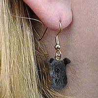 Kerry Blue Terrier Earrings Hanging