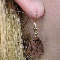 Cocker Spaniel Brown Earrings Hanging