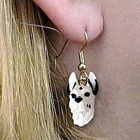Great Dane Harlequin Earrings Hanging
