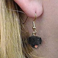 Labrador Retriever Black Earrings Hanging