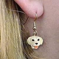 Labrador Retriever Yellow Earrings Hanging