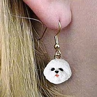Bichon Frise Earrings Hanging