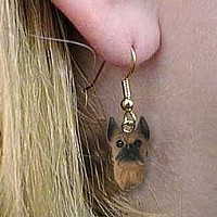 Boxer Tawny Earrings Hanging