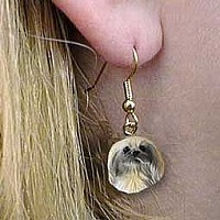 Pekingese Earrings Hanging