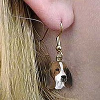 Basset Hound Earrings Hanging
