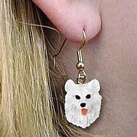 Samoyed Earrings Hanging