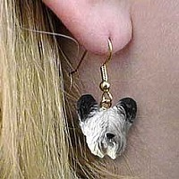 Skye Terrier Earrings Hanging