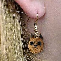 Brussels Griffon Red Earrings Hanging