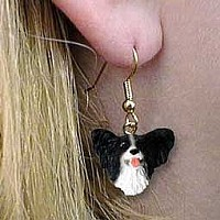 Papillon Black & White Earrings Hanging