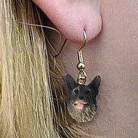 Norwegian Elkhound Earrings Hanging