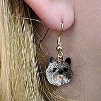 Cairn Terrier Gray Earrings Hanging