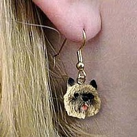 Cairn Terrier Red Earrings Hanging